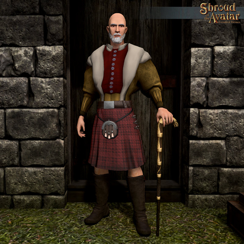 TT Shroud of the Avatar - Ornate Long Kilt