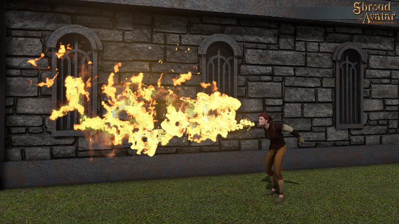 Shroud of the Avatar Breathe Fire Emote