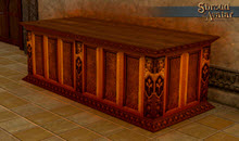 TT Shroud of the Avatar 2x Ornate Wooden Display Table