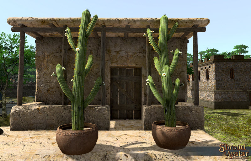 Shroud of the Avatar Potted Saguaro Multi-Branch Cactus 3-Pack (digital)