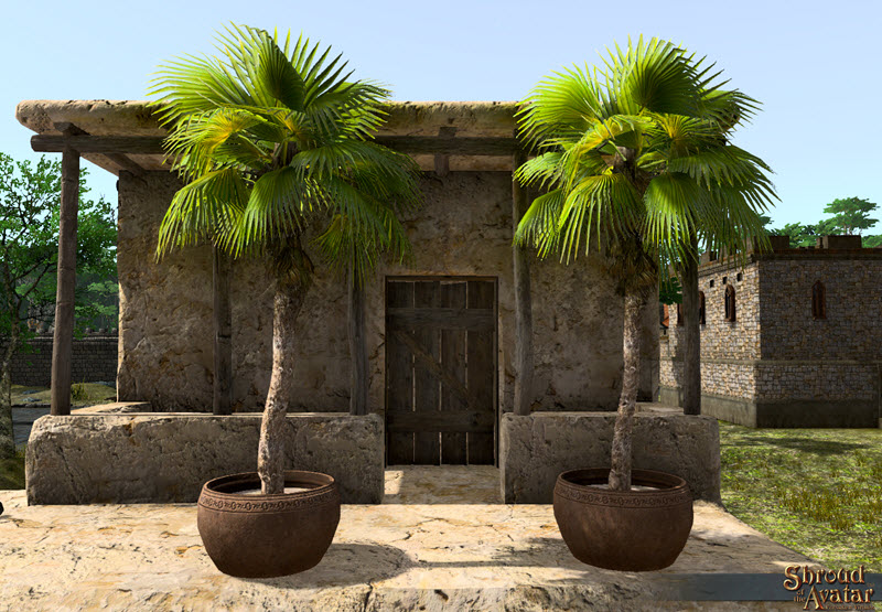 Shroud of the Avatar Potted Fountain Palm Tree 3-Pack (digital)