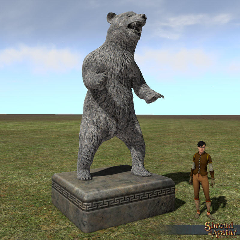 Shroud of the Avatar Stone Bear Statue