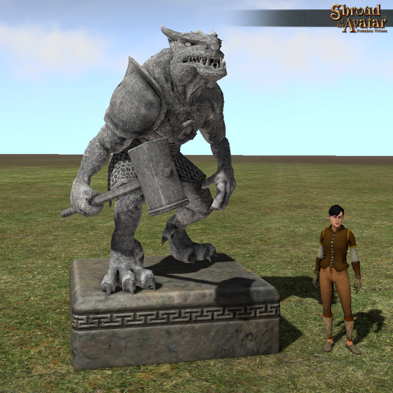 Stroud of the Avatar Stone Kobold Statue