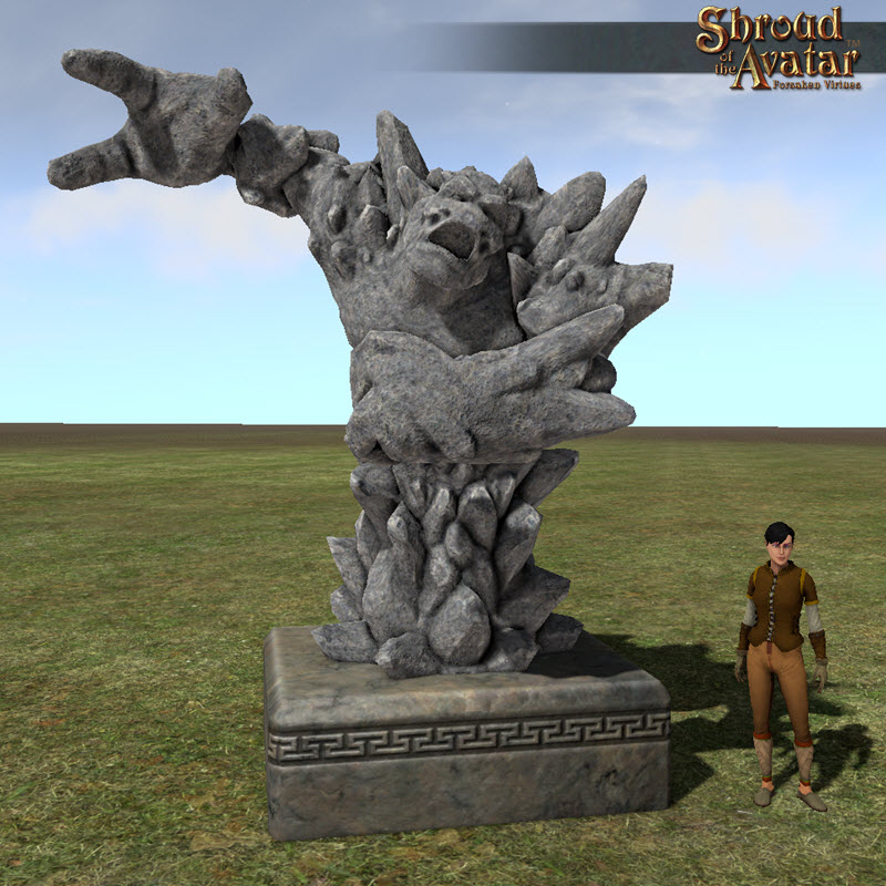 Shroud of the Avatar Stone Golem Statue