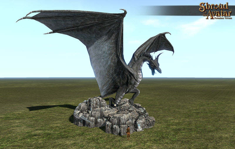 Shroud of the Avatar Stone Dragon Statue City Size