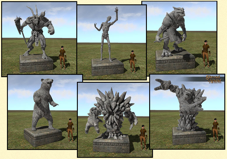 Shroud of the Avatar Stone Creature Statue 6-Pack