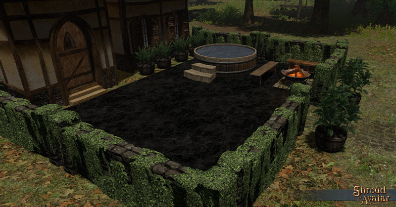 Shroud of the Avatar Polished Midnight Black Marble Pavers
