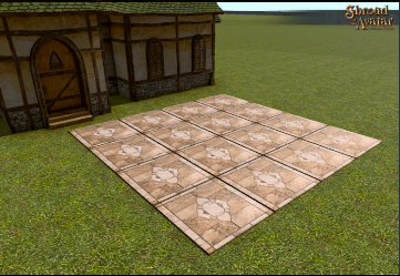 TT Shroud of the Avatar Polished Giant Beige Inlaid Marble Pavers