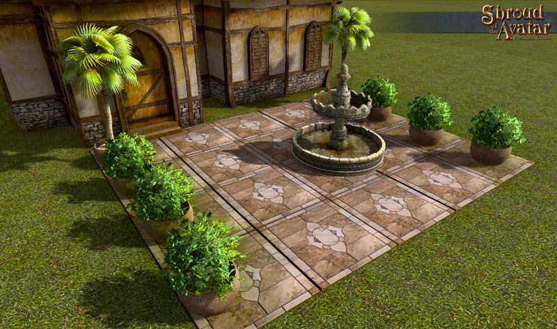Shroud of the Avatar Polished Beige Inlaid Marble Pavers (digital)