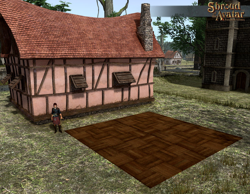 Shroud of the Avatar Giant Checkered Maple Parquet Pavers
