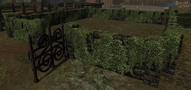 TT Shroud of the Avatar  Ivy Covered Stone Fence