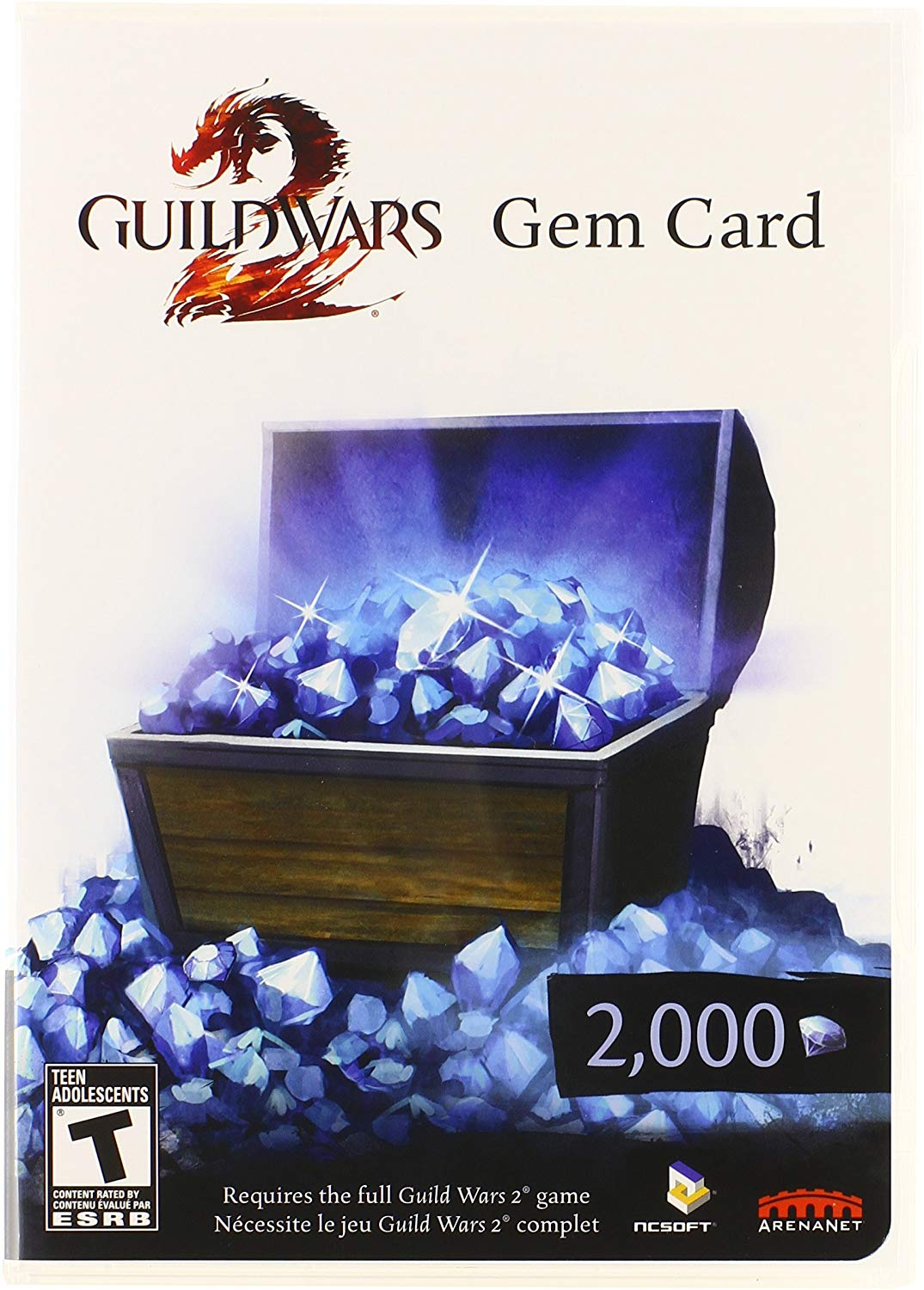 Guild Wars 2 Gem Card Code US and European Servers